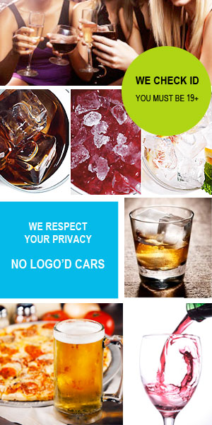 Drinks Delivered in Kelowna - we respect your privacy with no logo'd cars