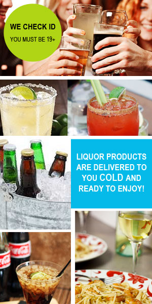 Drinks Delivered delivers your liquor products cold and ready to enjoy!